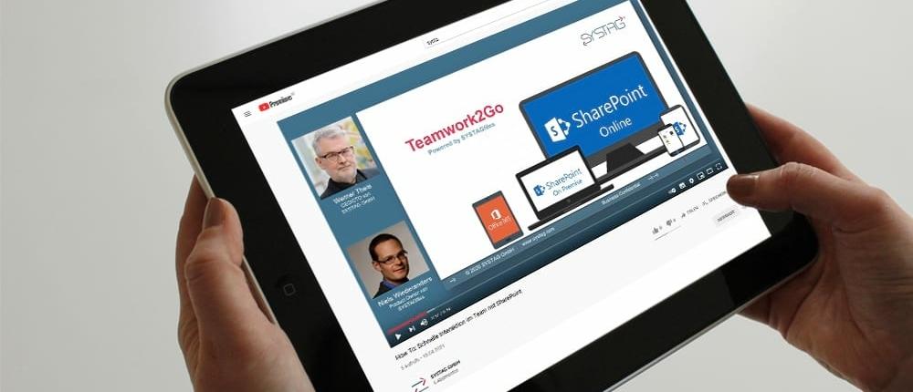 Teamwork steht im Fokus einer SharePoint App und damit bei SYSTAGfiles