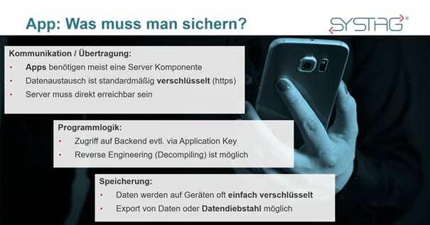Secure Enterprise Apps - was muss gesichert werden? SYSTAG GmbH